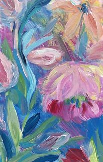 Abstrakt, Blumen, Modern art, Pflanzen