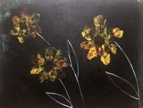 Nacht, Frühling, Blumen, Malerei