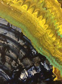 Gelb, Blau, Schwarz, Malerei
