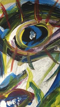 Ausschnitt, Bunt, Gesicht, Malerei