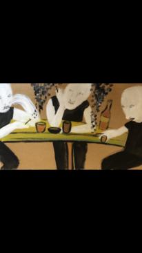 Rauch, Mann, Kneipe, Malerei