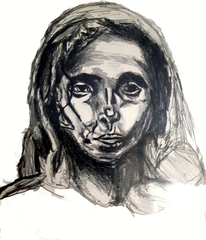 Kopf, Bleistiftzeichnung, Frau, Zeichnungen