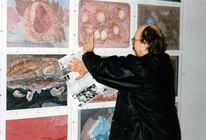 Zeichnung, Ausstellung, Pinnwand,
