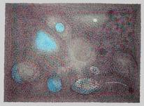 Blau, Mineralisch, Grau, Kristallin