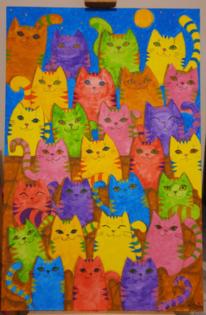 Farben, Acrylmalerei, Malerei acrylmalerei, Blickfang