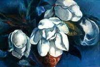 Pastellkreide auf künstlerpapier, Malerei, Magnolien