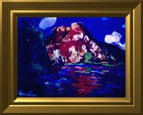 Landschaft, Schloß rosafa, Malerei,