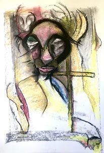 Pastellmalerei, Karton, Kreuz, Malerei