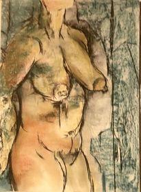 Pastellmalerei, Tonkarton, Wand, Malerei