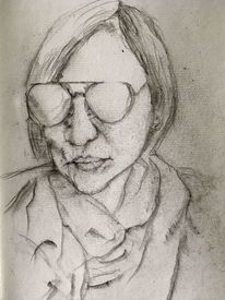 Cool, Bleistiftzeichnung, Sonnenbrillen, Zeichnungen