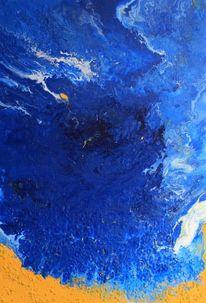 Acrylgießtechnik, Abstrakt, Malerei,