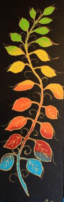 Blumen, Artdeco, Malerei