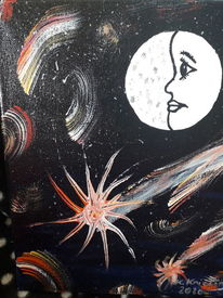 Glück, Nacht, Traum, Malerei