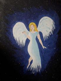 Schutz, Engel, Weltall, Malerei