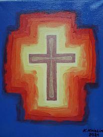 Kreuz, Glaube, Bunt, Malerei