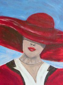 Malerei, Portrait, Acrylmalerei, Frau