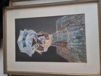Modern art, Aquarellmalerei, Farben, Schwarz