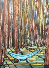 Wald, Baum, Hängematte, Schatten