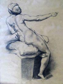 Studie, Akt, Malerei marcel heinze, Raffaelo santi