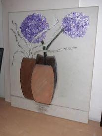 Vase, Aquarellmalerei, Blumen, Aquarell