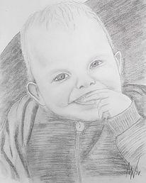 Portrait, Kinderzeichnung, Kind, Kopf