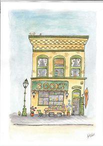 Bookshop, Buchladen, Stadtansicht, Storefront