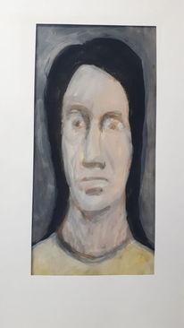 Portrait, Kopf, Gesicht, Malerei