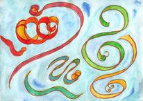 Seele, Intuitive, Farben, Mischtechnik