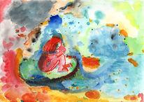 Farben, Seele, Intuitive, Aquarell