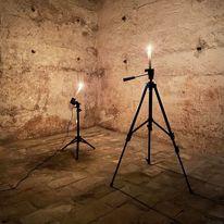 Lichtinstallation, Galerija, Ausstellung, Fotografie