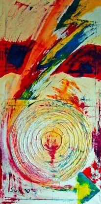 Acrylmalerei, Collage, Malerei,