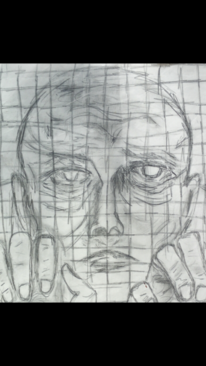 Gitter, Verzweiflung, Mann, Zeichnungen