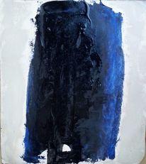 Blau, Schwarz, Säule, Malerei