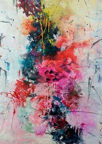 Blumen, Exlosion, Bunt, Malerei