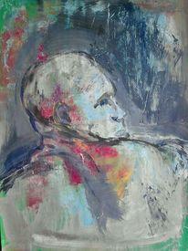 Mann, Bunt, Profil, Malerei