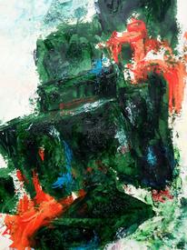 Bewegung, Quadrat, Einsturz, Malerei