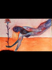 Erde, Blumen, Frau, Malerei