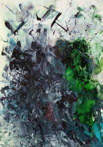 Aufwühlend, Rastlos, Orkan, Malerei