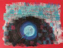 Rot, Tunnel, Weg, Malerei