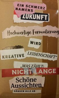 Printmedien, Schredder, Collage, Mischtechnik