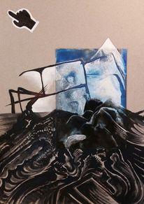 Abstrakt, Landschaft, Metapher, Mischtechnik