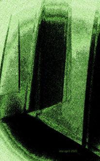 Schwarz, Farben, Grün, Fenster