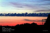 Wolken, Licht, Himmel, Text