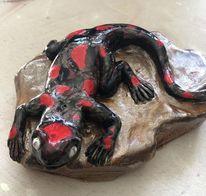 Salamander, Ton, Tiere, Plastik