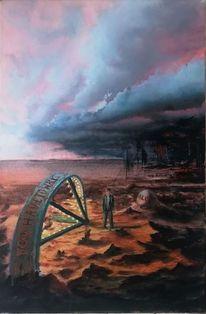 Einsamkeit, Acrylmalerei, Landschaft malerei, Malerei