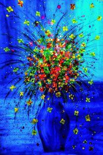 Vase, Blumen, Malerei,