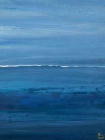 Abstrakt, Ausdrucksmalerei, Intuition, Blau