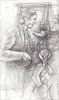 Menschen, Surreal, Expressionismus, Zeichnungen