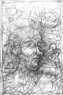 Menschen, Portrait, Expressionismus, Zeichnungen