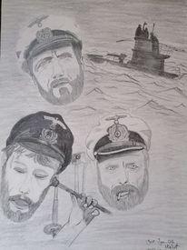 Seefahrt, U boot, Film, Zeichnungen